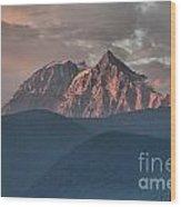 Rolling Hills And Purple Tantalus Peaks Wood Print