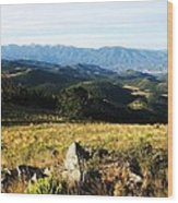 Rolling Mountain Morning Wood Print