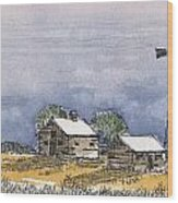 Rolling Plains Homestead Wood Print