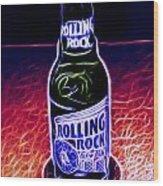 Rolling Rock Dark Wood Print