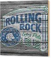 Rolling Rock Wood Print
