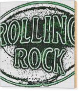 Rolling Rock Lager Wood Print