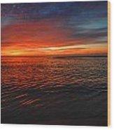 Rolling Sunrise Colors Wood Print