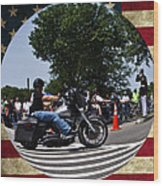 Rolling Thunder Salute Wood Print