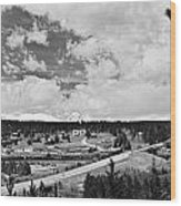 Rollinsville Colorado Small Town 181 In Black And White Wood Print