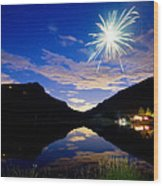 Rollinsville Yacht Club Fireworks Private Show 52 Wood Print