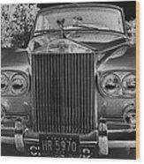Rolls Royce Grill Wood Print