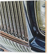 Rolls Royce Headlight And Grille Wood Print