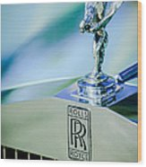 Rolls-royce Hood Ornament -782c Wood Print