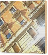 Roma Windows Wood Print
