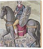 Roman Cavalryman Of The State Army Wood Print