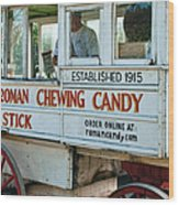 Roman Chewing Candy Wagon In New Orleans Wood Print