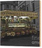 Roman Confectionary Cart Wood Print