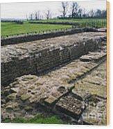 Roman Fort Ruins, England Wood Print