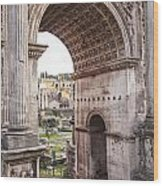 Roman Forum Arch Wood Print