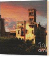 Roman Forum At Sunset Wood Print