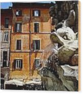 Roman Fountain  Wood Print