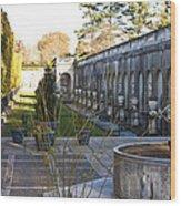 Roman Gardens In Fall Wood Print