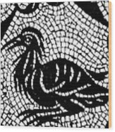 Roman Mosaic Bird Wood Print by Mair Hunt