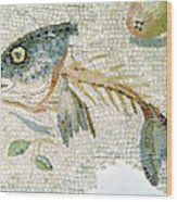 Roman Mosaic Wood Print