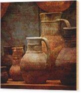 Roman Pots Wood Print