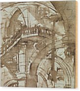 Roman Prison Wood Print