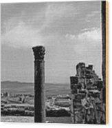 Roman Ruin Eleven Wood Print