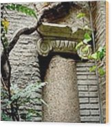 Roman Stone  Wood Print by Natalya Karavay