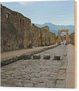 Roman Street In Pompeii Wood Print