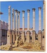 Roman Temple In Cordoba Wood Print