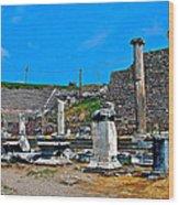 Roman Theatre In Pergamum-turkey  Wood Print