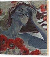 Romance Echo Wood Print by Dorina  Costras