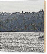 Romance II On Liberty Bay Wood Print