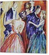 Dance In Romance Wood Print