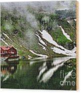 Romanian Glacier Lake Wood Print