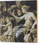 Romano, Giulio, Workshop Of. Venus Wood Print
