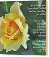 Romans Yellow Rose Wood Print