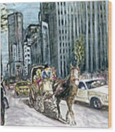 New York 5th Avenue Ride - Fine Art Wood Print