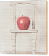 Romantic Apple Still Life Wood Print