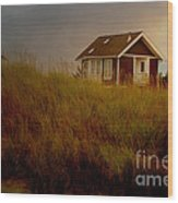 Romantic Beach Getaway Wood Print by Beverly Guilliams