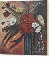 Romantic Bouquet Wood Print by Elena  Constantinescu