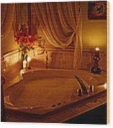 Romantic Bubble Bath Wood Print by Kay Novy
