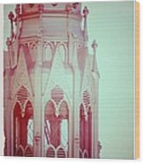 Romantic Cathedral Architectural Details Photograph Wood Print