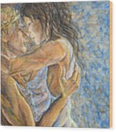 Romantic Cover Painting Wood Print