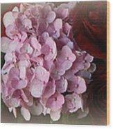 Romantic Floral Fantasy Bouquet Wood Print