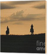 Romantic Horseback Ride Wood Print