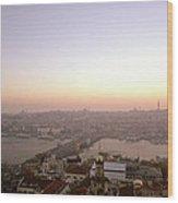 Romantic Istanbul Wood Print