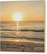 Romantic Ocean Swim At Sunrise Wood Print