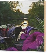 Romantic River View Wood Print