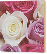 Romantic Rose Garden Wood Print